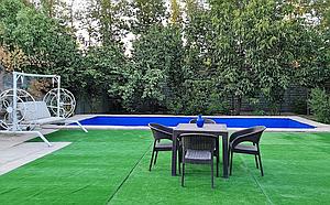 اجاره ویلا باغ سرسبز با درختان کهنسال و استخر